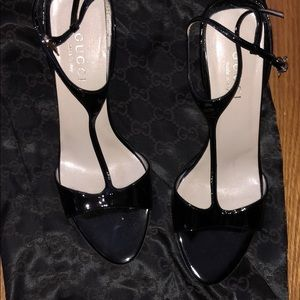 Barely worn t strap Gucci heels.